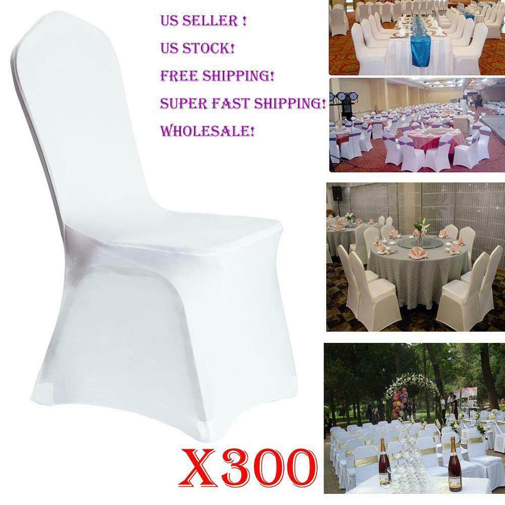 400x White Spandex Chair Covers Stretch for Wedding Party Banquet Universal USA