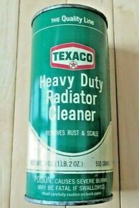 Vintage Original Texaco Heavy Duty Radiator Cleaner 18 oz. Unopened Can - NOS!