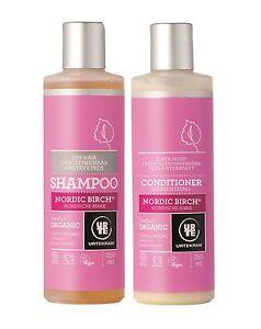 urtekram-Organique-nordique-Bouleau-Shampoing-amp-revitalisant-250ml-Cheveux-Sec