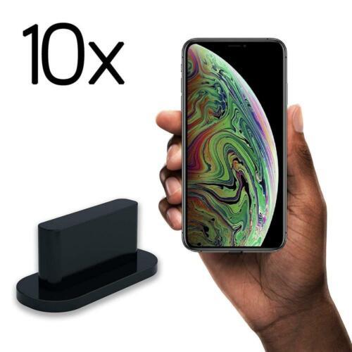 Noir innoGadgets 10x Bouchon Anti-poussière pour iPhone 7//8//X//Xs//Xs//Xr