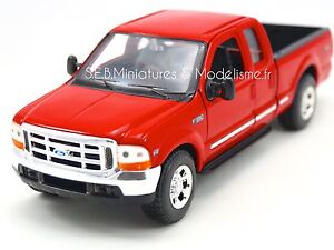 FORD-F-350-V8-PICK-UP-ROUGE-1-24-WELLY