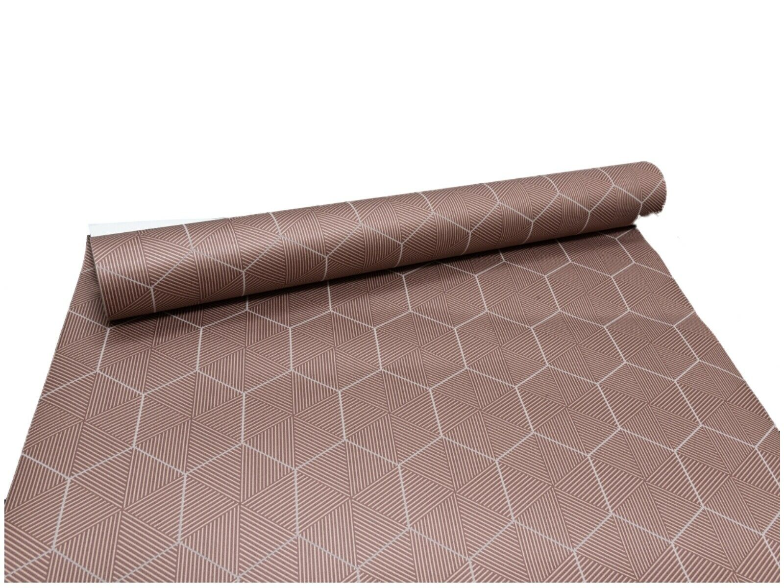 Erismann Mid Brown Copper Geometric Hexagon Non Woven Vinyl Wallpaper 1767-48