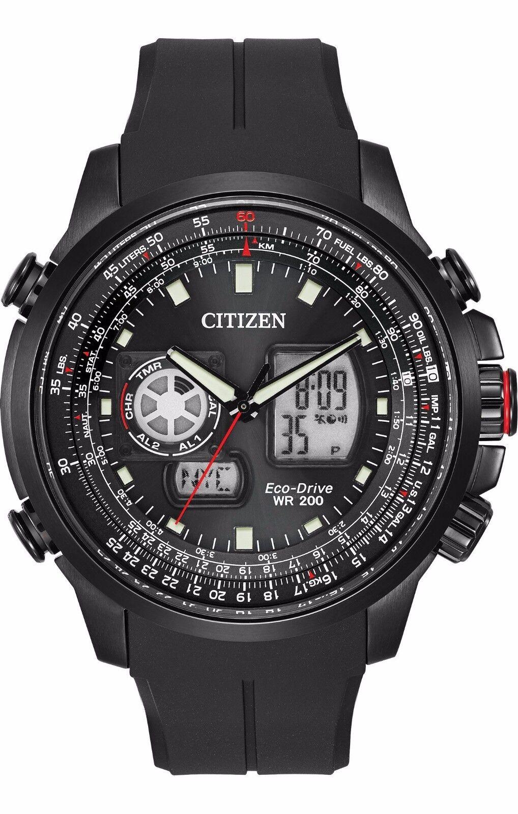 Cross – Border:- Citizen Eco-Drive Men's JZ1065-13E Promaster Air Black Polyurethane Band Watch low price