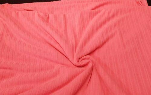 4meters neon pink rib stretch fabric crafts B
