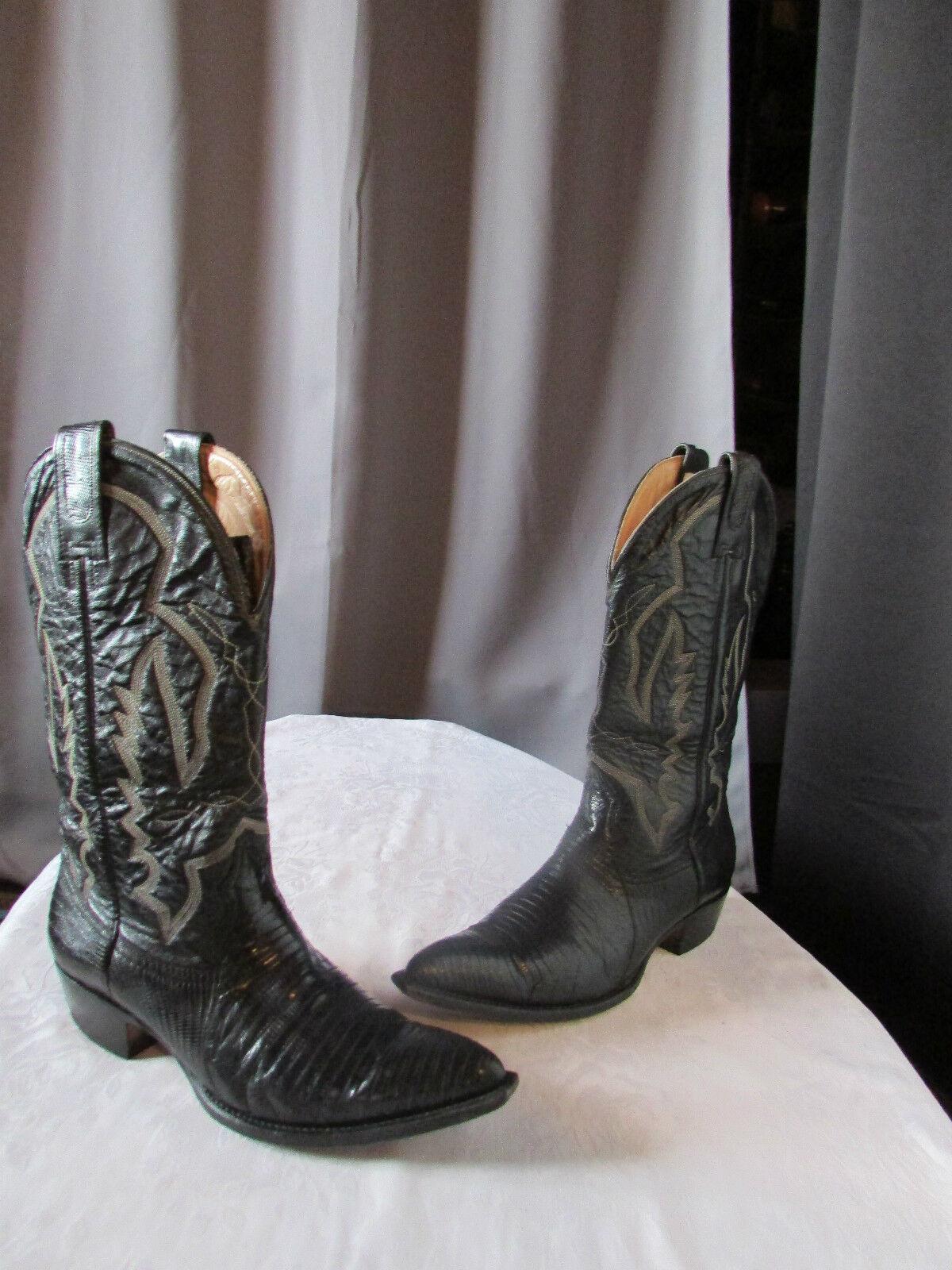 Cowboy-Stiefel Mexican Montana Schwarzes Leder Größe 6,5