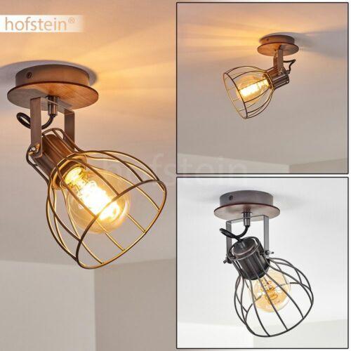 Flur Strahler Vintage Wand Lampen Holz//grau Wohn Schlaf Zimmer Raum Beleuchtung