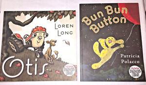 Dolly-Parton-Imagination-Library-2-Book-Lot-Bun-Bun-Button-and-Otis-softcovers