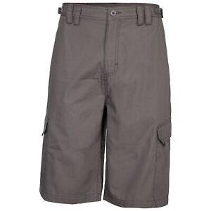Trespass-Regulate-Mens-Combat-Shorts-Plain-Casual-Summer-in-Grey-Colour