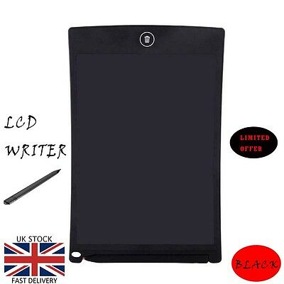 "8.5/"" LCD e-Writer Tablet Writing Drawing Memo Message Black Boogie Board grt"