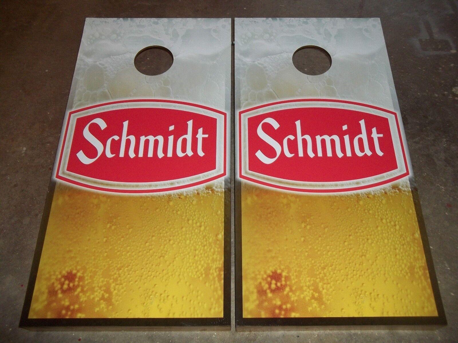 Schmidt Beer Corn Hole Boards - Bean Bag Toss Game