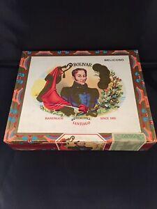 Simon-BOLIVAR-robustos-vintage-in-legno-Cigar-Box-vuoto