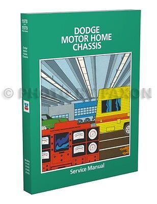 1978 1979 Dodge Motor Home Shop Manual Motorhome Service M300 M400 M500 M600 Ebay