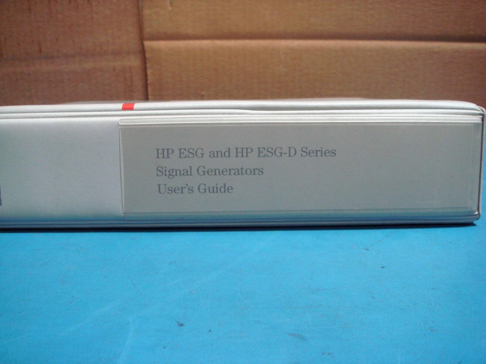 HP ESG AND HP ESG-D SERIES SIGNAL GENERATORS USERS GUIDE