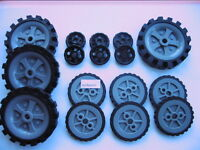 KNEX Assortment of K'nex  wheels x 16