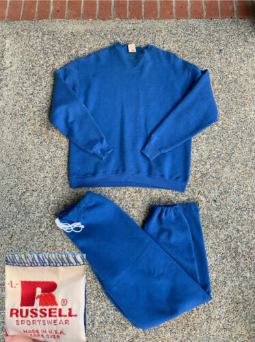Vintage 70s Russell Athletic V Stitch Crewneck Swe