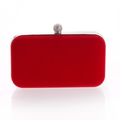 Wedding Bridal Red Evening Handbags Clutch Purse Womens Bags Party Cocktail Prom