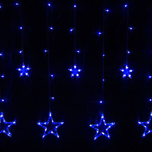 12 Twinkling Stars Christmas Fairy String Lights Window Display 138 LED Blue eBay