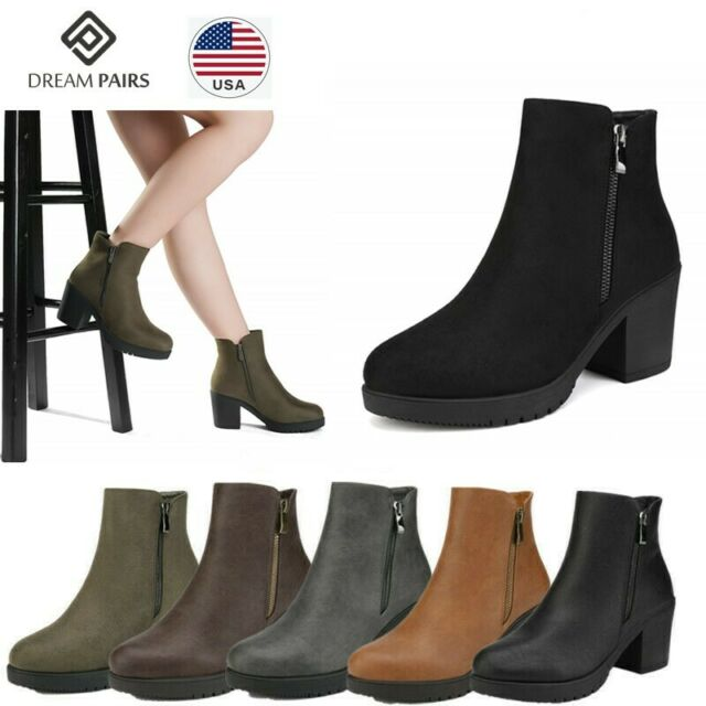 Spot On Ladies Zip Up Ankle Boots