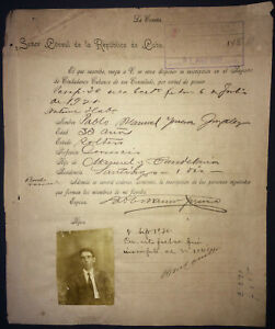 1920-Spain-Antilles-Passport-Issued-by-Consul-in-La-Coruna-for-Passage-to-Cuba