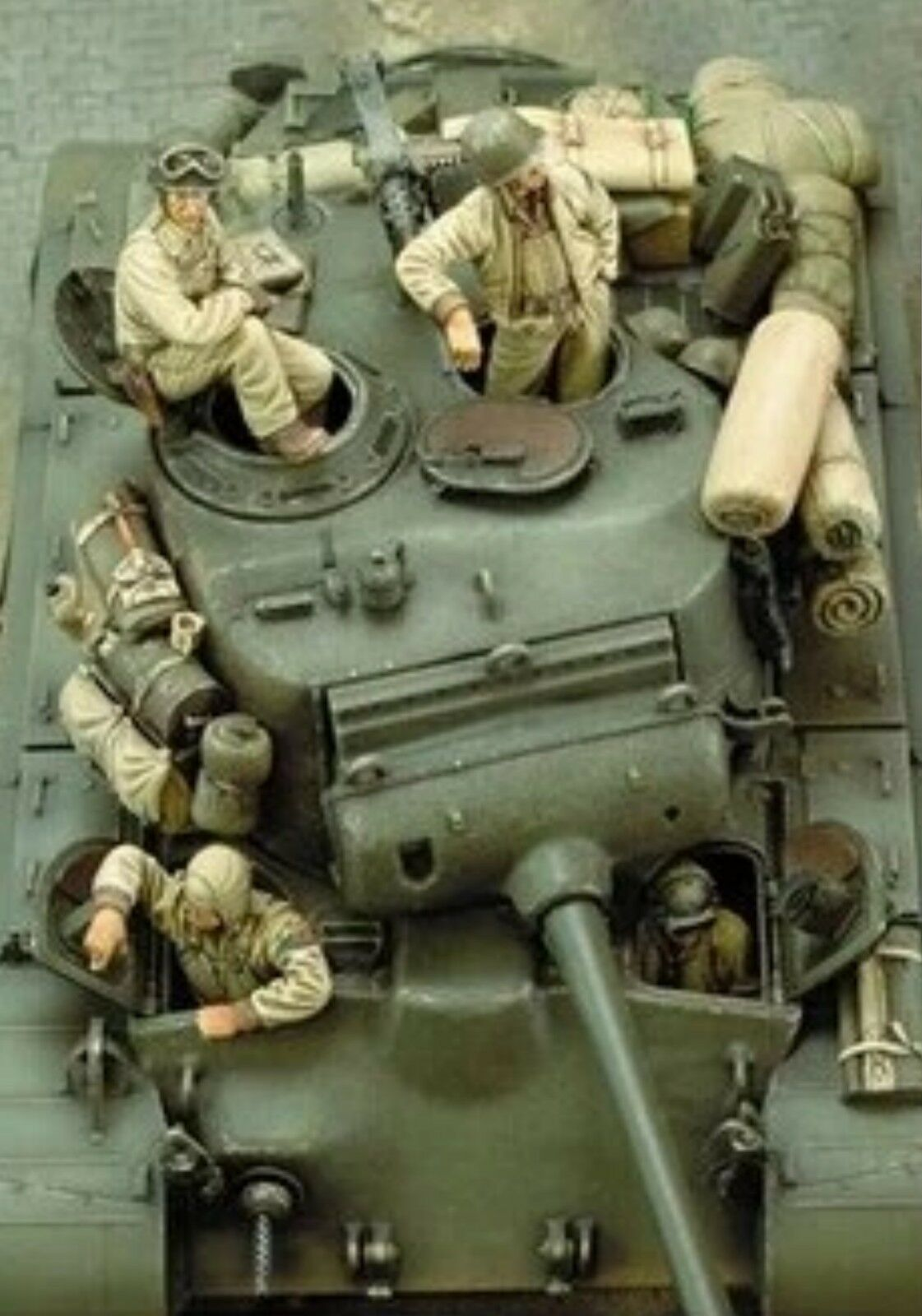 1 35 Scale Resin Model Kit American Tank Crew  (4 Figures, No Tank)