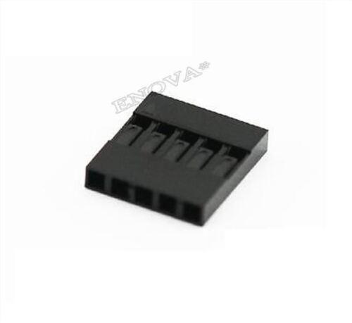50 Stücke 5 P Pitch Dupont Draht Kabel Gehäuse Jumper Buchse Stecker 2,54MM I vg