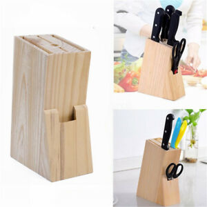 Wood-Knife-Holder-Block-Scissor-Slot-Storage-Rack-Wooden-Kitchen-Organizer-Tool