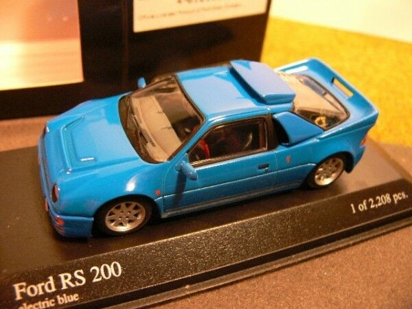 1/43 Minichamps Ford RS 200 1986 blau 430 080202