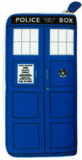 *NEW* Dr Doctor Who Blue TARDIS Ladies Clutch Wallet - Ikon - BBC Merchandise
