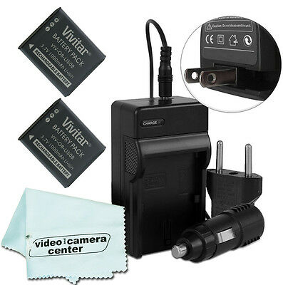 2 Batteries&Charger FOR OLYMPUS TOUGH LI-50B VR-340 1010 1020 1030SW 6000 6020
