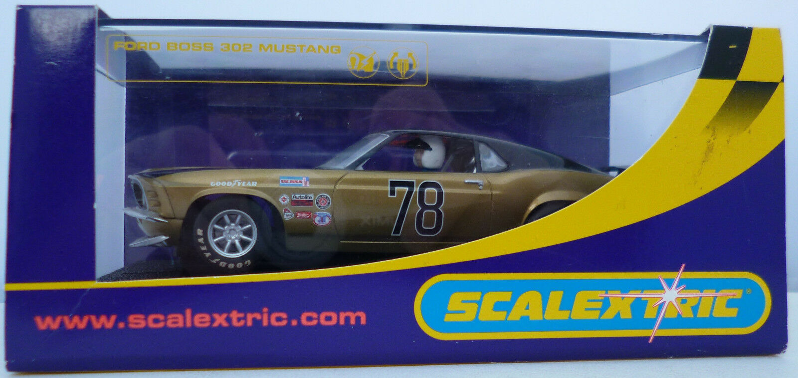 Scalextric C2797 Ford Boss 302 Mustang No. 78 Slot Car Boxed