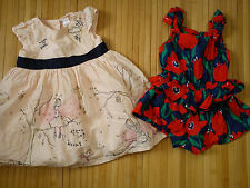 *STUNNING*HOLIDAY100% NEXT 2x bundle OUTFIT baby girl DRESS JUMPSUIT 3/6 mths