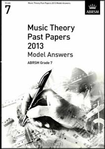 Magasiner Pour Pas Cher Music Theory Passé Documents Modèle 2013 Réponses Abrsm Grade 7-afficher Le Titre D'origine
