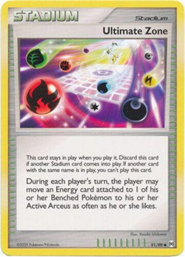 Pokemon 4X Ultimate Zone 91//99 Platinum Arceus PERFECT MINT