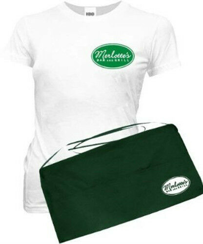 True Blood Sookie Stackhouse Merlotte's Bar&Grill T-shirt and Apron Costume Set