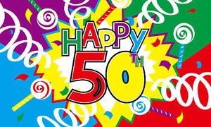 Image Is Loading 5 039 X 3 Happy 50th Birthday