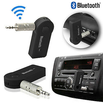 3.5mm Receptor Música Coche Casa Bluetooth Adaptador Estéreo AUX Audio Con Mic