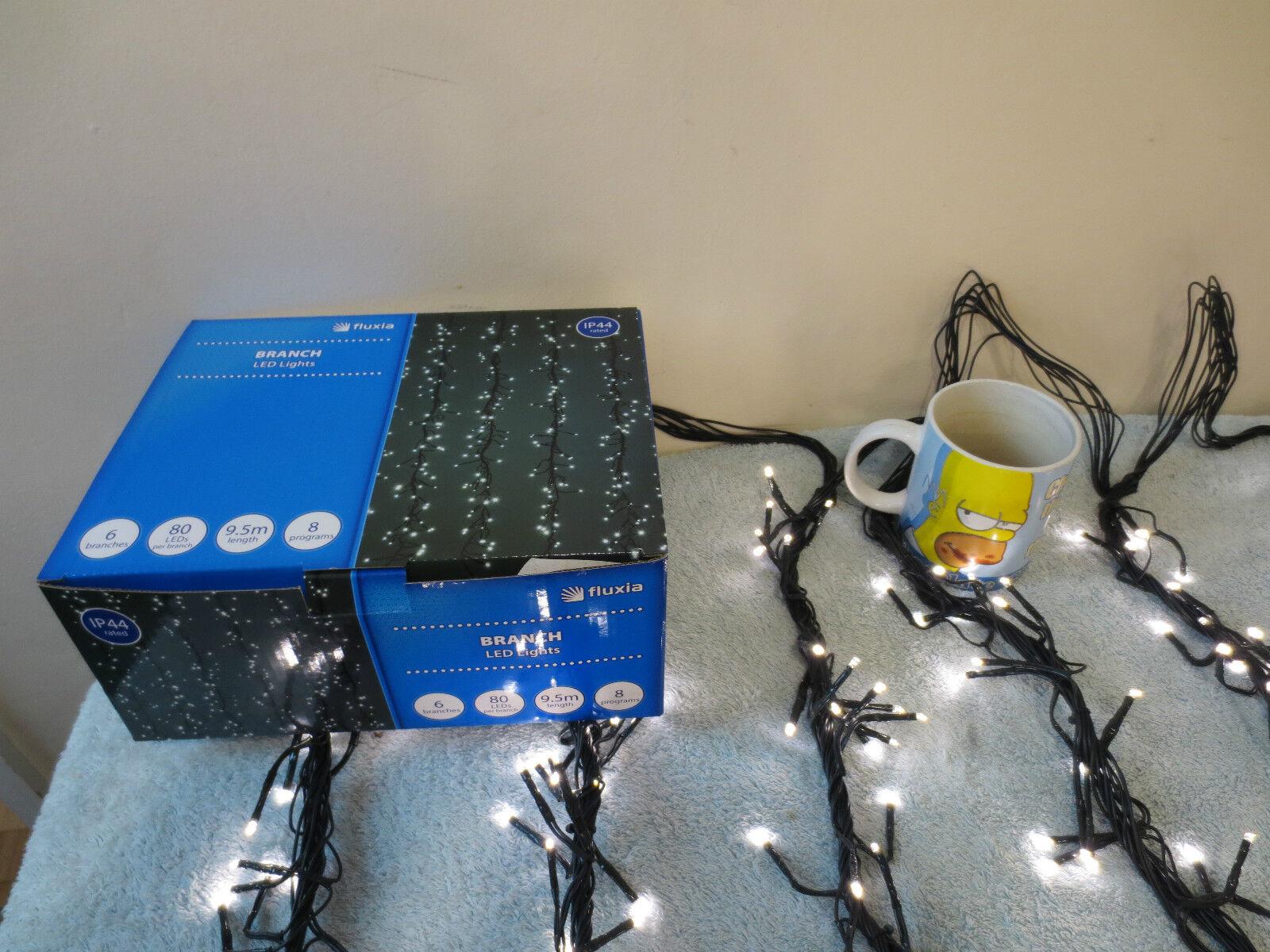 LUCI di Natale Natale Natale display multifunzione 480 Bianco Caldo Luci da Giardino DE301 filiale eb41fd