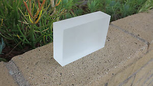 Custom Frosted SOLID Acrylic//Plexiglass BLOCK For  Display OR Decoration