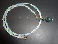 Australian Black Opal Beads & Ethiopian Opal 14k Solid Yellow Gold Necklace