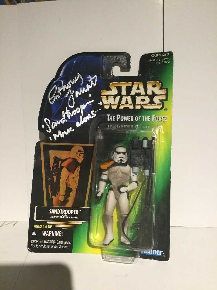 Star Wars Power of the Force Sandtrooper signed by Anthony Forrest w/COA