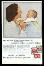 1956 Norman Rockwell 'Harmony' mother baby art Swift baby food vintage print ad