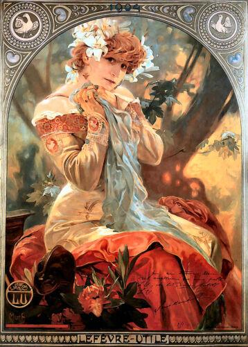 Utile/' by Alphonse Mucha Repro Art Nouveau Print  /' Lefevre