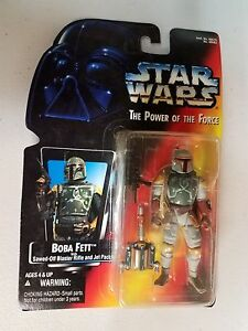 NEW 1995 Star Wars Power Of The Force Boba Fett Orange Card Full Circle On Hands
