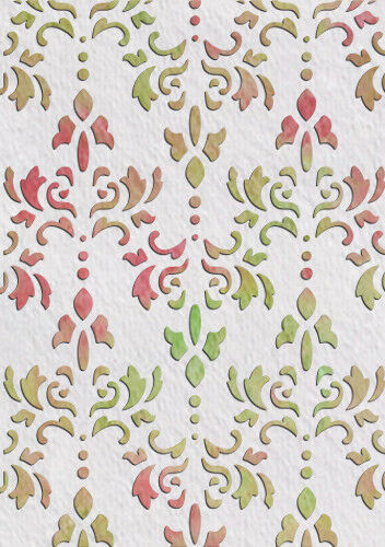 French Floral Stencil Template Card making Paint furniture Wall Crafts Art FL45