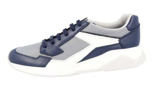 Gris Nouveau luxe de Prada 43 Sneaker 43 5 43 Bleu Chaussures 4e2816 Nouveau Yqx6wxO