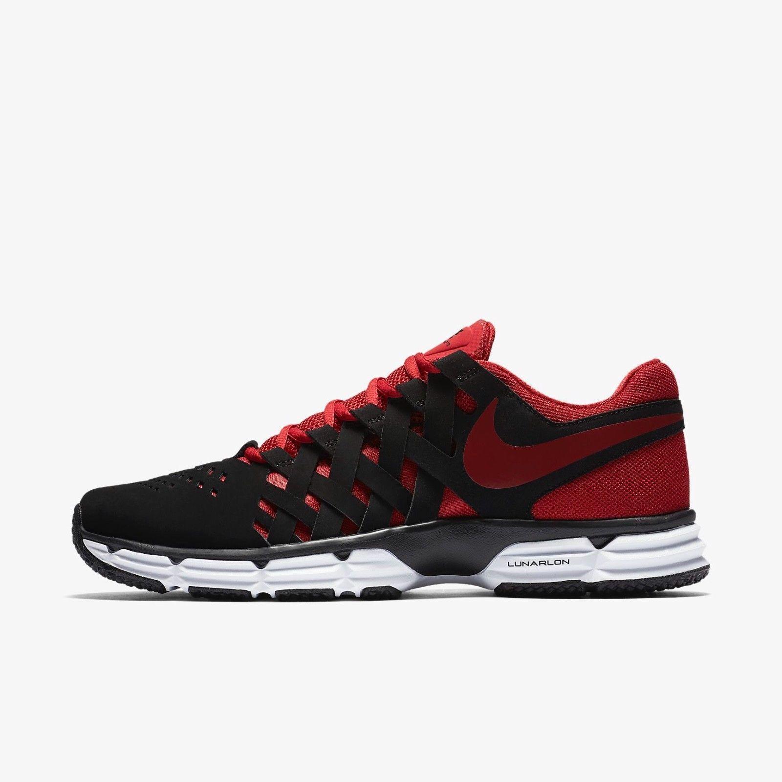 Pennino nike lunar fingertrap tr scarpe scarpe rosso nero 898066-006 Uomo sz gli 8 e i 13