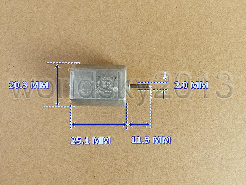 1pcs For JOHNSON 370 DC12V-24V 2600-5400rpm Mute Metal Brush Motor for DIY Parts