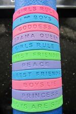 36 x GIRLS RUBBER SILICONE WRISTBAND BRACELET WHOLESALE JOB LOTS SHOP GIFTS NEW