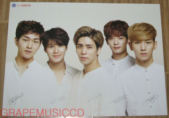 SHINEE THE SAEM OFFICIAL PROMO POSTER VERSION 3 NEW