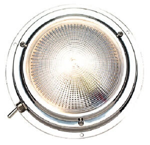 Tremendous 4 Inch Stainless Steel Surface Mount Dome Cabin Light For Boats Wiring 101 Bdelwellnesstrialsorg